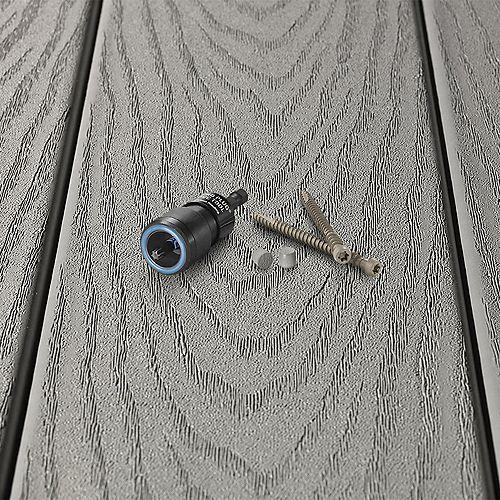 Pro Plug System/Composite Deck Epoxy Screw 2.75 inch - 100 Sq. Ft coverage - Trex Select Pebble Grey