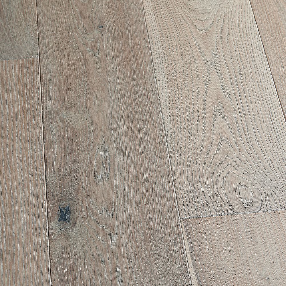 Malibu Wide Plank Plancher, bois d'ingénierie, 0,5 po x 7,5 po x longeurs variées, Chêne français La Playa, 23,32 pi2/boîte