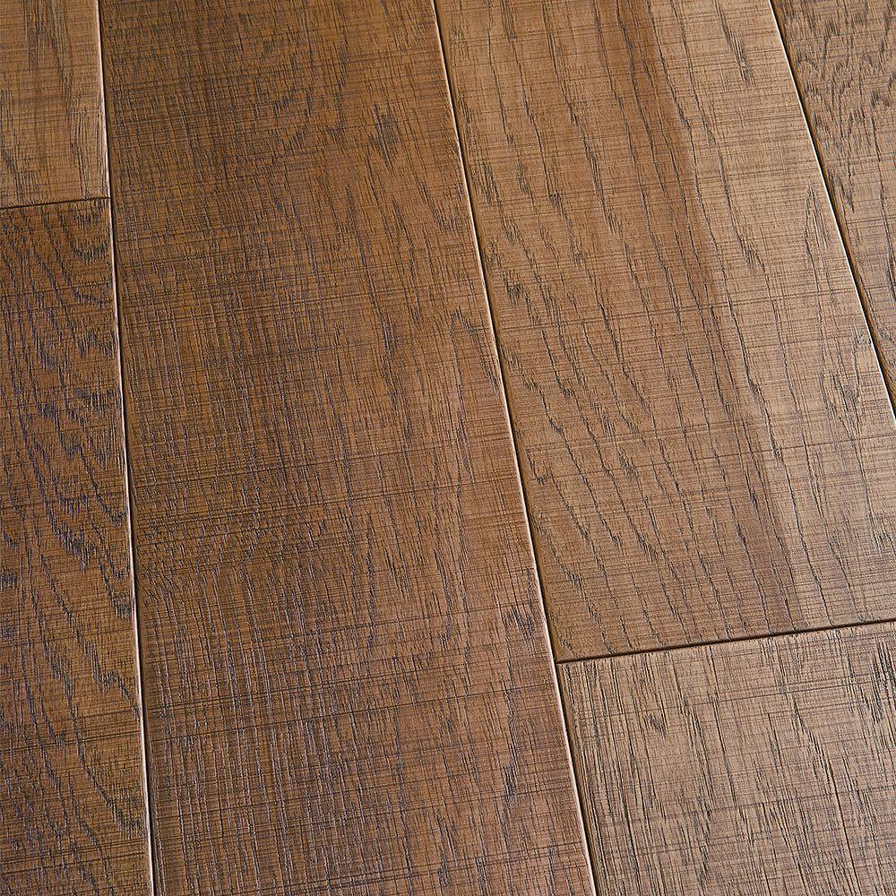 Malibu Wide Plank Revêt. sol bois franc ingénierie, hickory Capistrano, 3/8 x 6 1/2 po x long. var., 23,64 pi2/bte