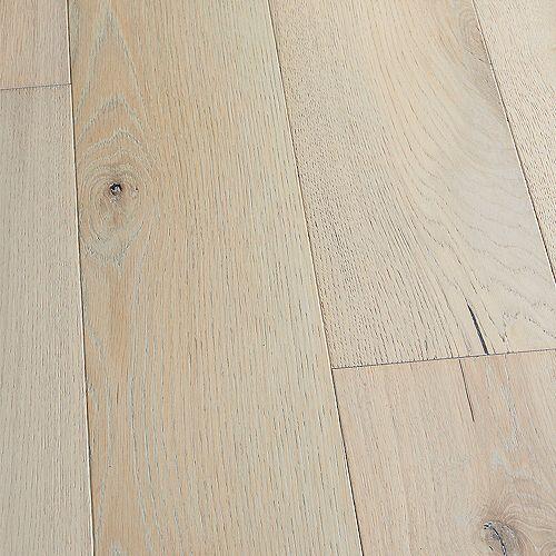 Plancher, bois d'ingénierie, 3/8po x 6,5po x longeurs variées, Chêne français pointLoma, 23,64 pi2/boîte