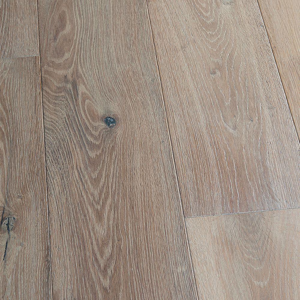 Malibu Wide Plank Plancher, bois d'ingénierie, 3/8 po x 6,5 po x longeurs variées, Chêne français New port, 23,64 pi2/boîte