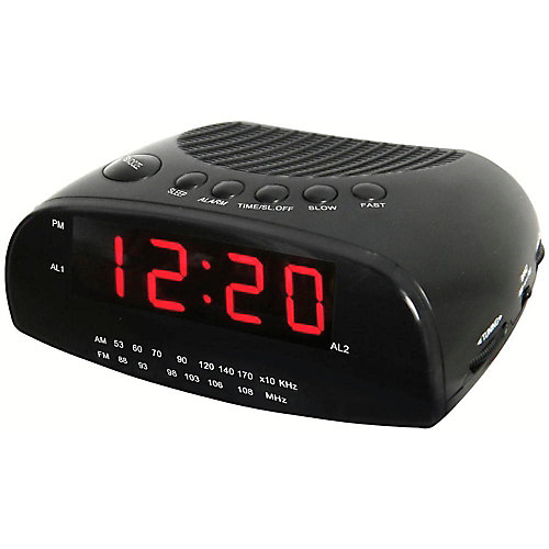 Alarm clock radio with am/fm and led screen