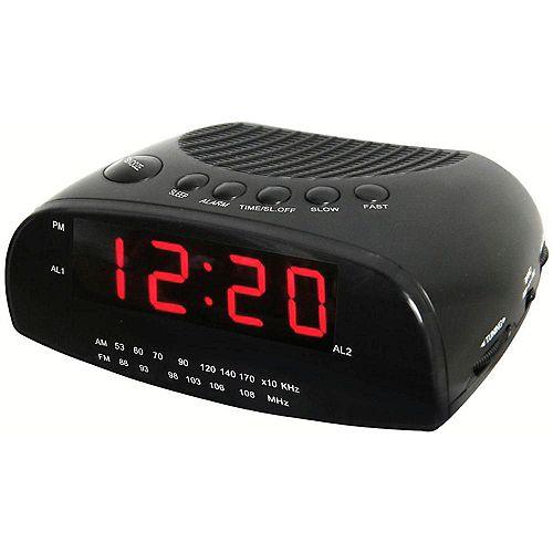 Radio-réveil avec am/fm et écran à del