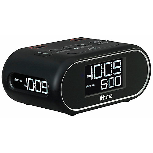 Hti industries ihome lcd triple display alarm clock with dual USB charging