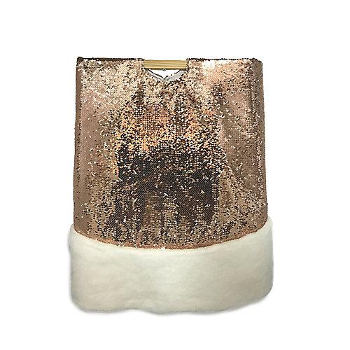 54 inch Sequin Copper Tree Skirt