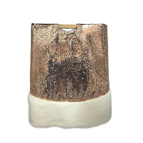 Cache-pied paillettes dorées de 1,37 m