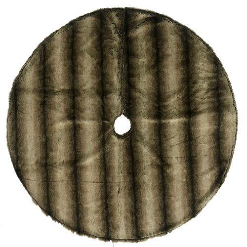 Cache-pied en fourrure artificielle brune de 1,37 m