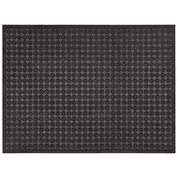 Contours Dots 3 ft x 4 ft Indoor/Outdoor Rectangular Needlepunch Charcoal Doormat