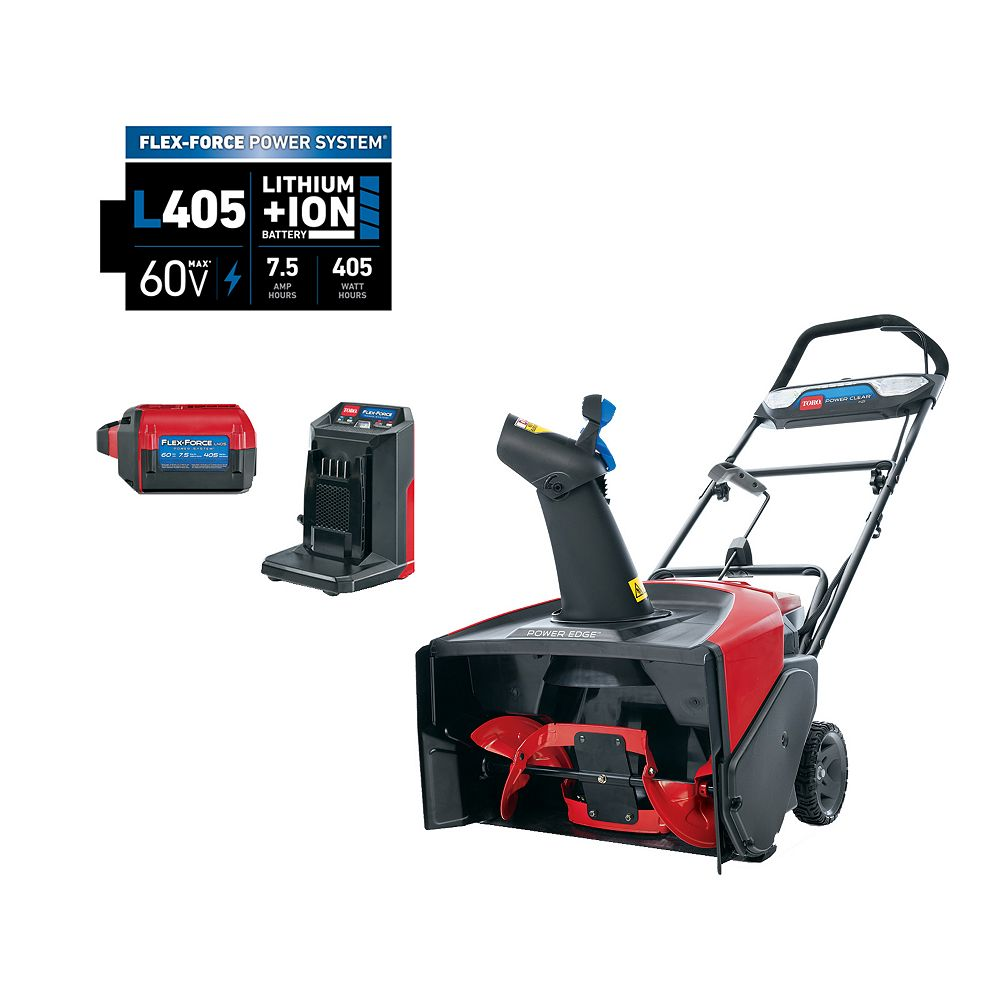 Toro 60V Max 21 inch Power Clear e21 Electric Cordless Snow Blower, 7.5 Ah Battery & Charger Included