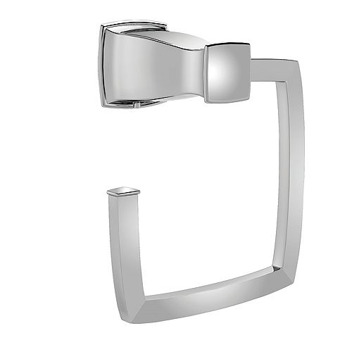 MOEN Hensley Chrome Towel Ring with Press and Mark