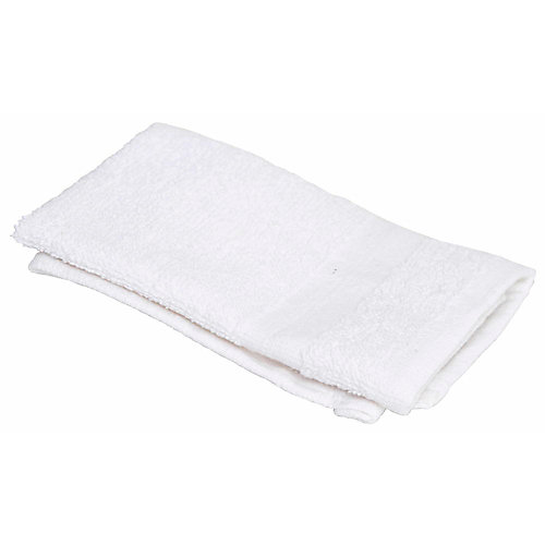 Oxford silver collection wash cloth, 12 x 12 in., white, 300 per case