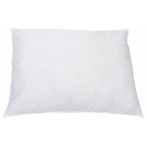 Oreiller standard de 20po × 26po contenant 22oz de fibres siliconées creuses, blanc (12par caisse)