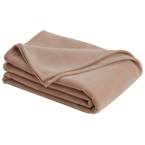 Westpoint Home Llc Couverture vellux pour grand lit, havane  (4 par boite)