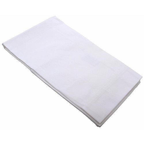 White standard pillowcases, 42 in. X 36 in., (144 per case)