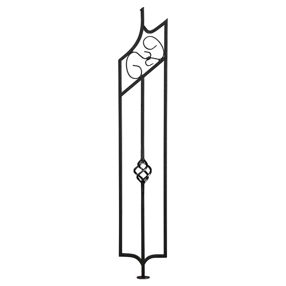 Colonial Elegance Barreau Panier Noir martelé 3/8 x 6 x 33 1/4 Escalier