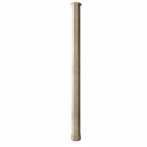 Couvre-poteau classic plaque chene hexagonal