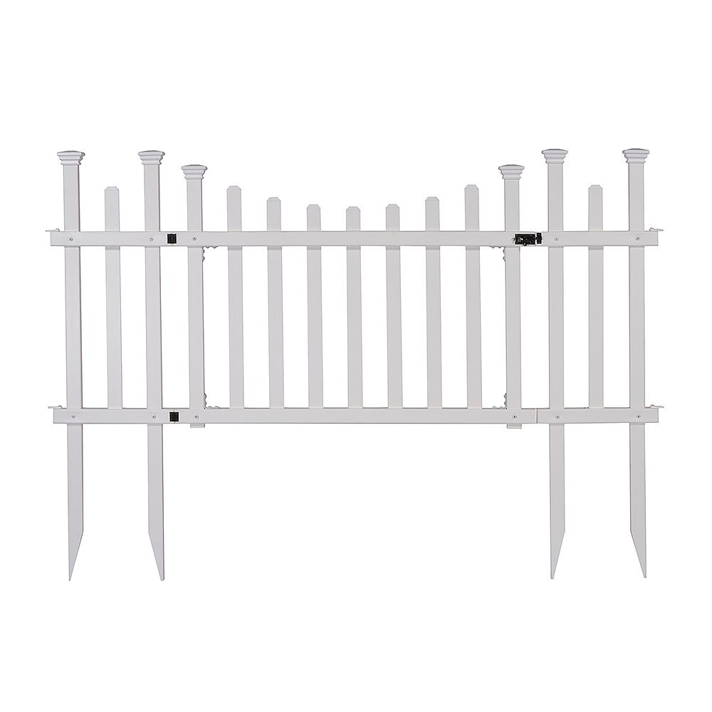 Zippity Outdoor Products Madison Vinyl Gate Kit with Fence Wings