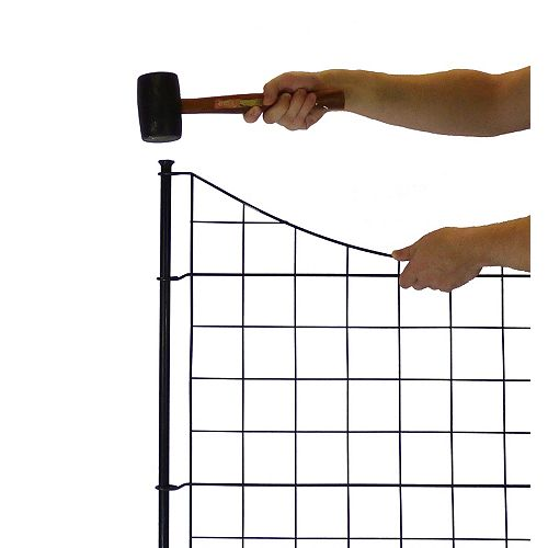 Semi-Permanent Black Metal Garden Fence (25 inch Tall)- 5 pack
