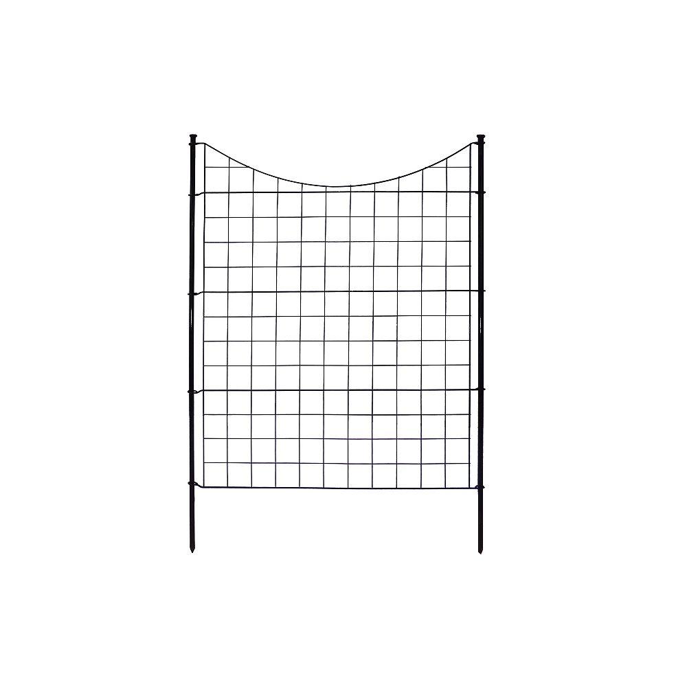 Zippity Outdoor Products Clôture de jardin semi-permanente en métal noir (42 po [106,7 cm] de haut) (ensemble de 5 )