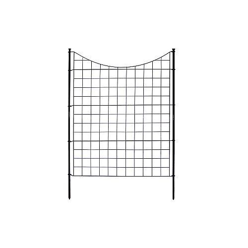 Clôture de jardin semi-permanente en métal noir (42 po [106,7 cm] de haut) (ensemble de 5 )