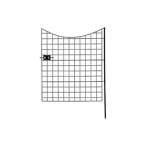 Barrière de clôture de jardin en métal noir (41 po [104,1 cm] de haut)