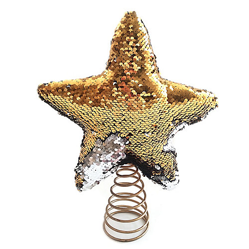 12 inch SEQUIN STAR TREE TOPPER