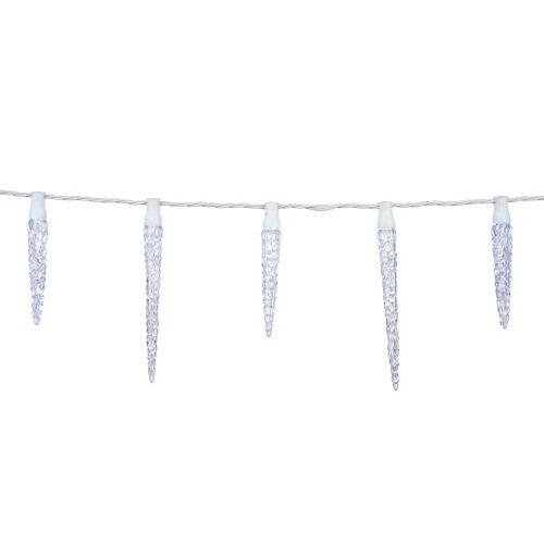 25-Light Twinkling LED Icicle Christmas Lights