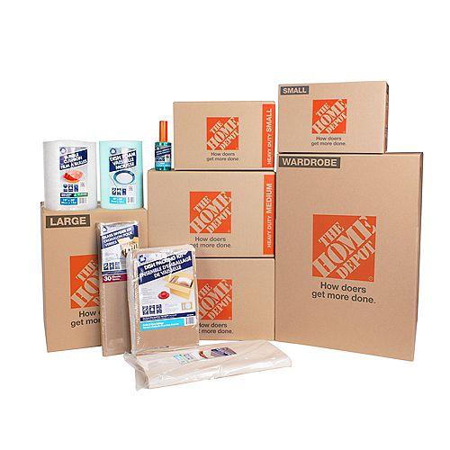 2 Bedroom 1000 sqft 50-Box Moving Bundle