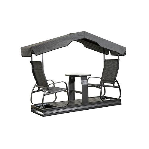 Sojag Eco 2-Seater Garden Swing in Dark Grey