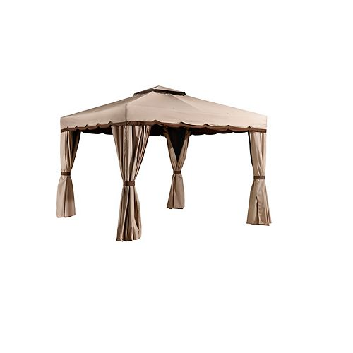 Roma 8 ft. x 8 ft. Sun Shelter in Beige and Brown