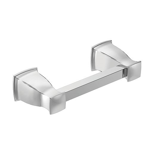 MOEN Hensley Pivoting Toilet Paper Holder with Press and Mark in Chrome