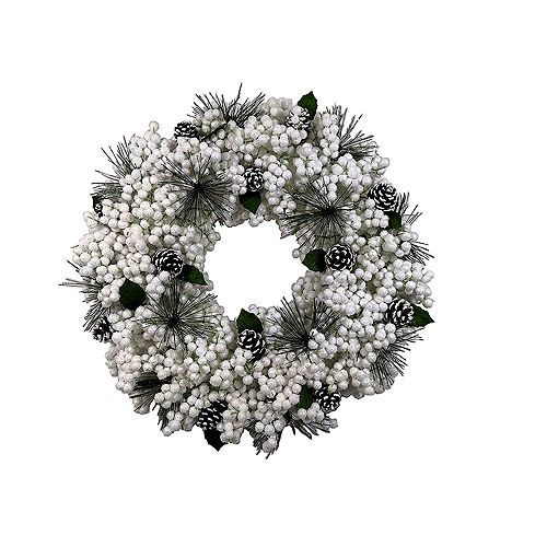 Home Accents 20 inch Snow Berry Wreath
