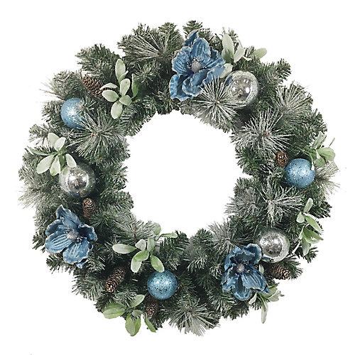Couronne de magnolia bleu, 71,1 cm