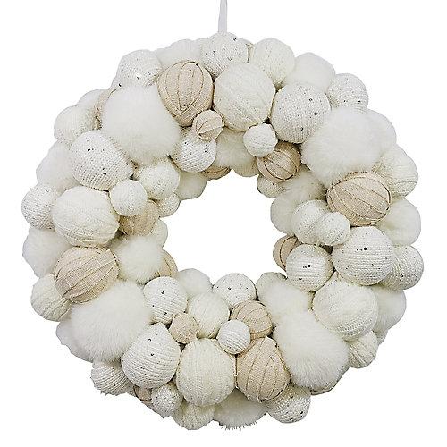 20-inch Pom Pom Wreath