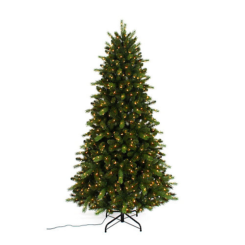 Braxton 7.5 ft. 700-Light Colour Changing LED-Lit 8-Function Christmas Tree