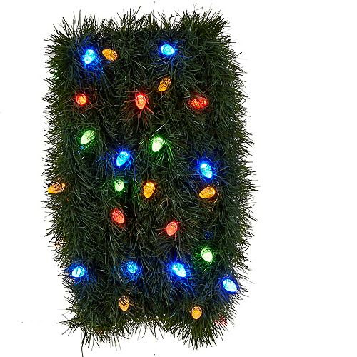 Home Accents 25 ft. 50-Light Roping Pine Indoor/Outdoor Christmas Garland with 8F Low Voltage C6 LED Lights