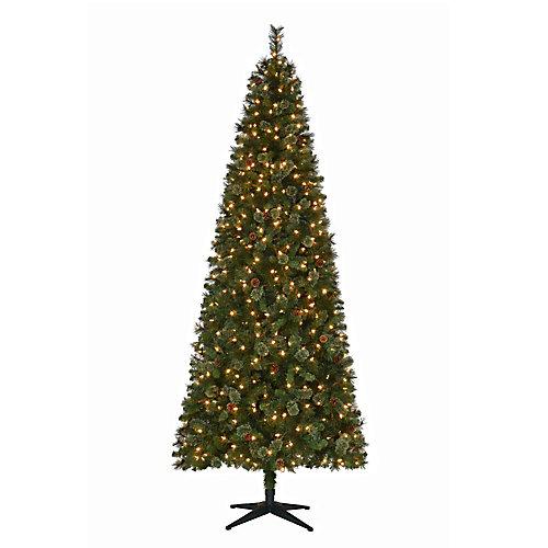 9 ft. 650-Light Warm White LED Pre-Lit Alexander Pine Cashmere Quick Set Christmas Tree