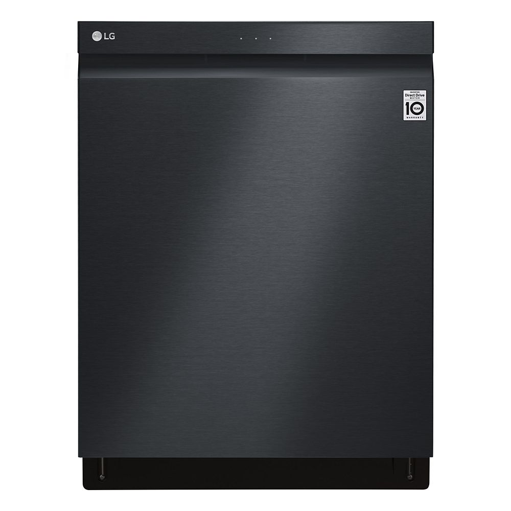 LG Electronics Top Control Smart Dishwasher with 3rd Rack and Wi-Fi in Matte Black Stainless Steel with Stainless Steel Tub, 44 dBA