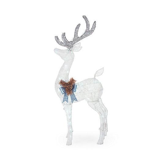 4 ft. LED-Lit Deer Outdoor Christmas Decoration