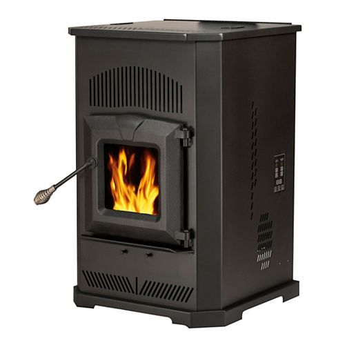 Englander 2,000 sq. ft. Pellet Stove with 80 lbs. Hopper and Auto Ignition