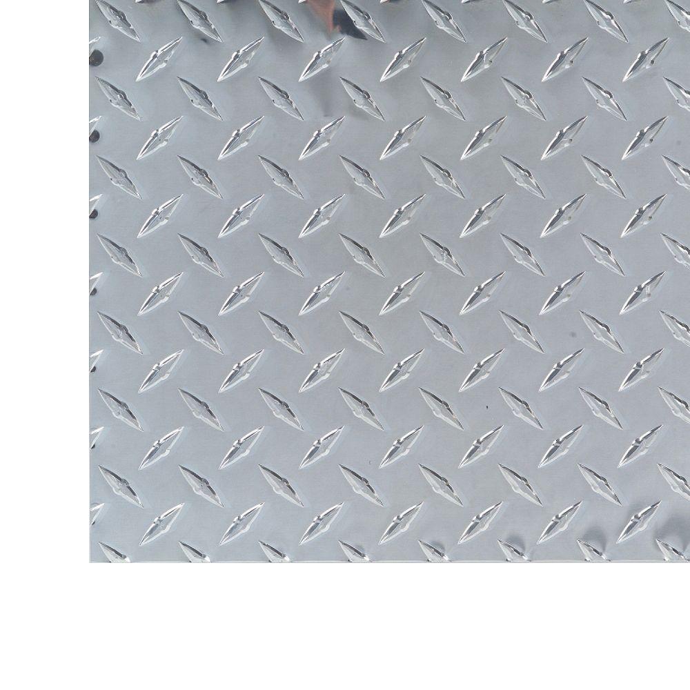 M-D Building Products 1 ft. X 2 ft. Diamond Tread Aluminium Sheet - .025