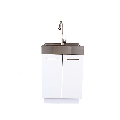 24 po SS Front Apron Laundry Cabinet