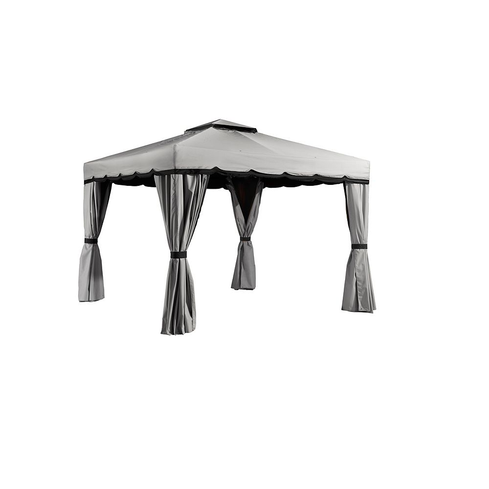 Sojag Roma 10 ft. x 12 ft. Sun Shelter in Grey