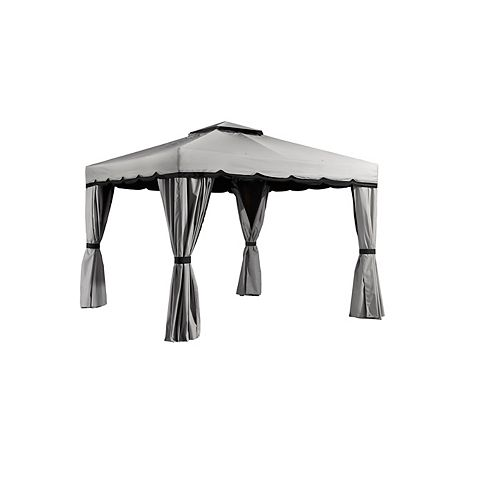 Roma 10 ft. x 12 ft. Sun Shelter in Grey