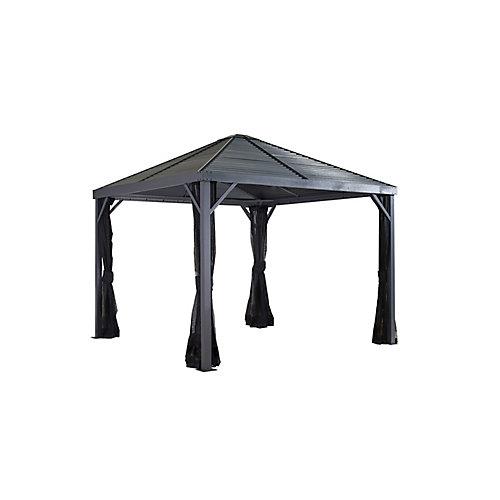 Sanibel 8 ft. x 8 ft. Sun Shelter in Grey