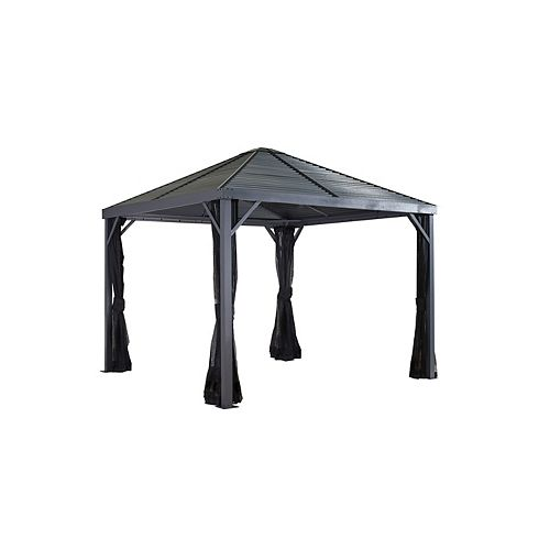 Sanibel 8 ft. x 8 ft. Sun Shelter in Grey