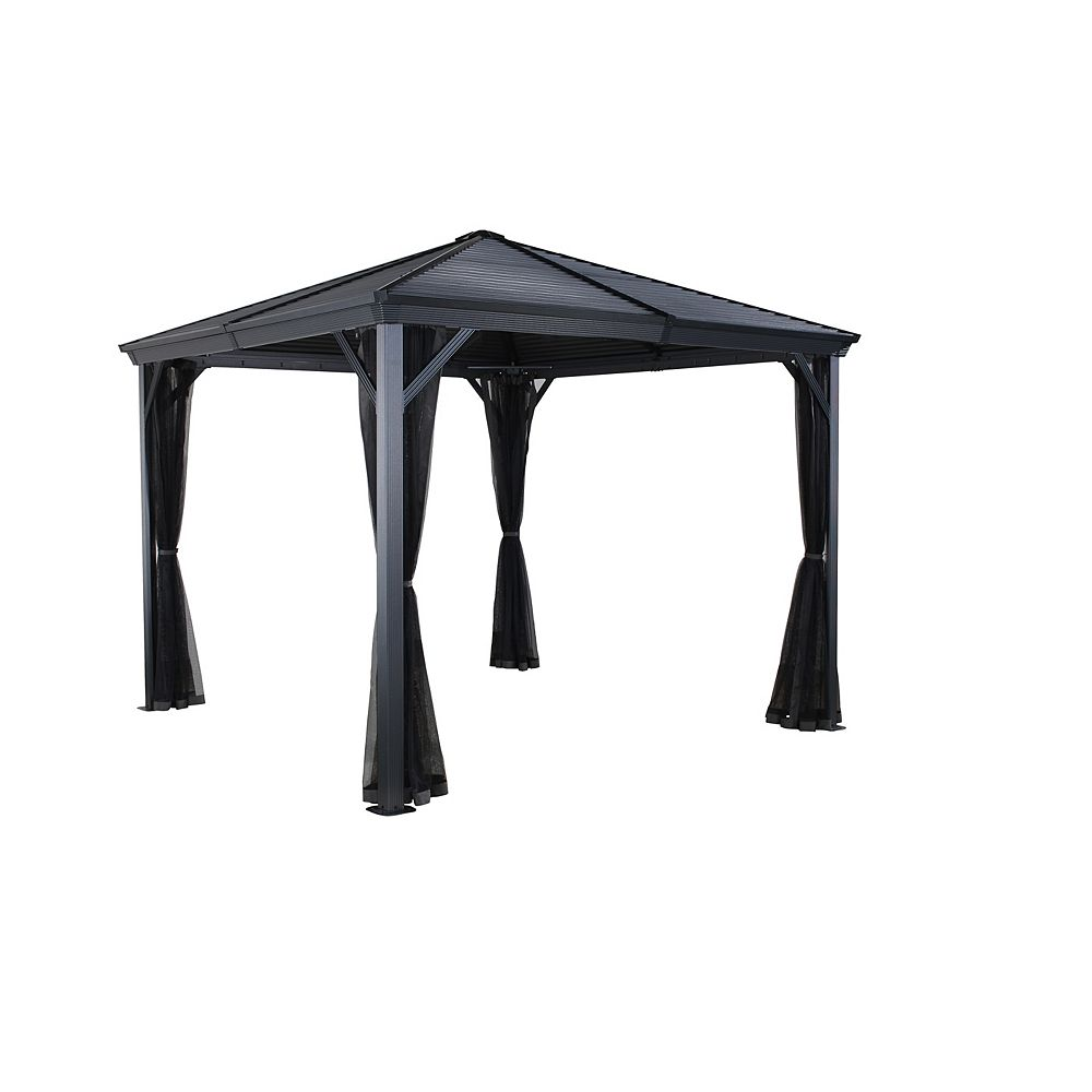 Sojag Ventura 8 ft. x 8 ft. Sun Shelter in Dark Grey