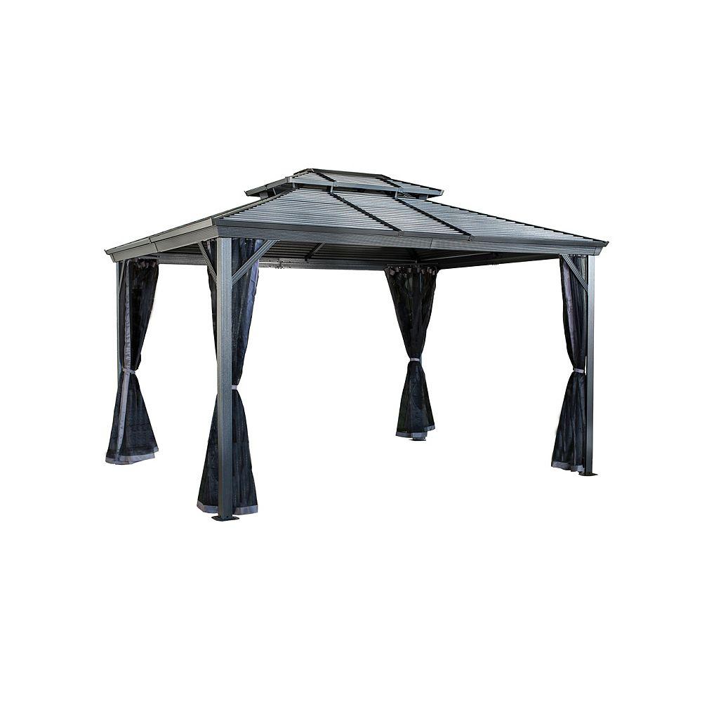 Sojag Ventura II 10 ft. x 10 ft. Sun Shelter in Dark Grey