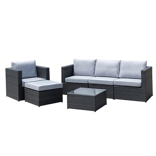 Dublin 6-piece Sectional Set (Grey)