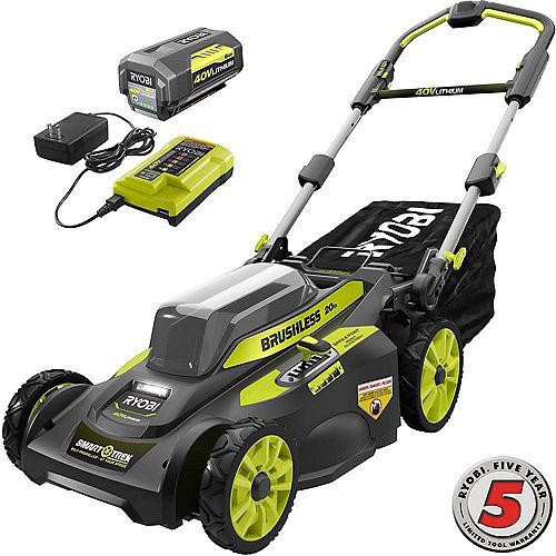 40V 20-Inch Brushless Cordless SMART TREK Self-Propelled Walk Behind Mower with 6.0Ah Battery